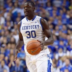 Julius Randle, possível escolha do Lakers, em ação pela Universidade de Kentucky