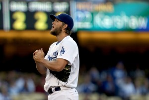 Clayton Kershaw manteve por 41 entradas sua série sem sofrer corridas na temporada 2014 da MLB (Foto:  Los Angeles Times)