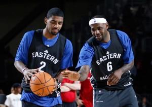 Kyrie Irving e LeBron James são as duas principais estrelas dos Cavs em busca de um inédito título