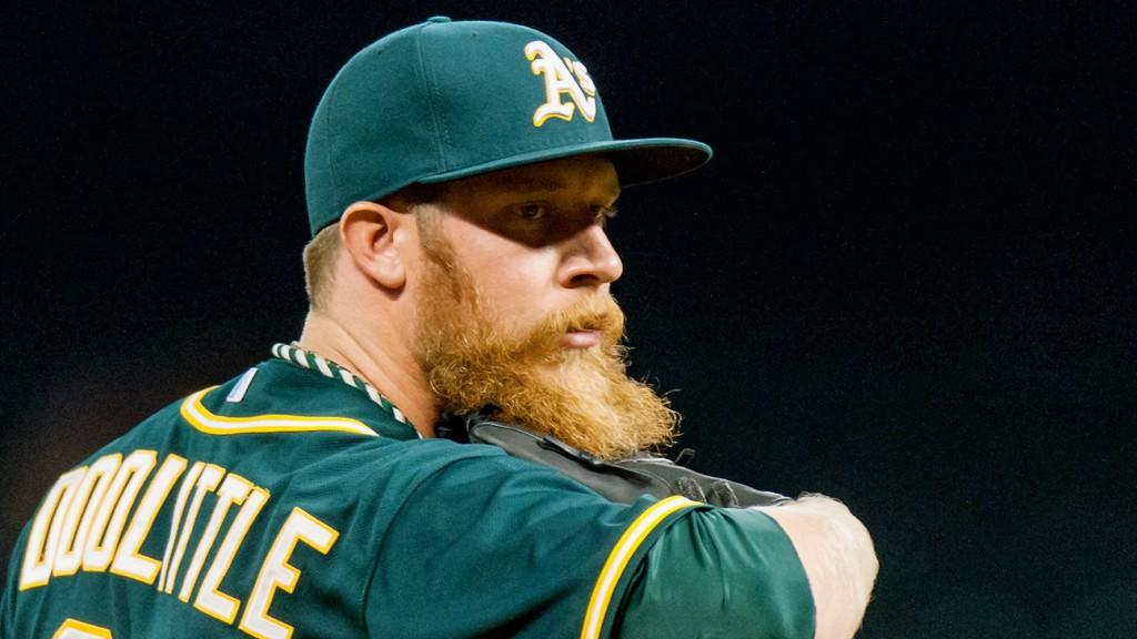 Sean Doolittle é um dos destaques do líder Oakland Athletics na temporada (nem que seja pela barba)