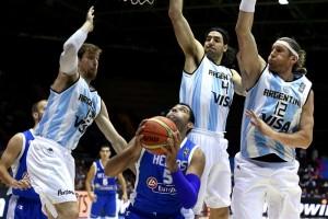 Seleção argentina sofreu a segunda derrota no Mundial de Basquete, diante da Grécia (Foto: Divulgação FIBA)