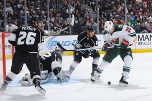 Goleiro Quick foi o grande destaque da partida com 40 defesas (Foto: NHL)
