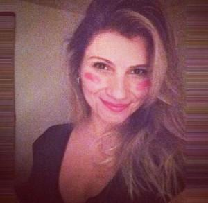 Quero todo mundo assim, com o rosto pintado de rosa! (Foto: Arquivo Pessoal)