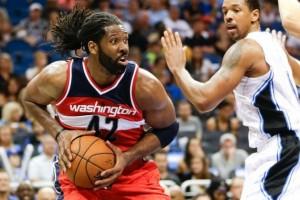Nenê foi um dos titulares dos Wizards que teve boa atuação (Foto: AP)