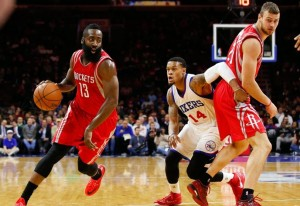 James Harden comandou a 4ª vitória dos Rockets na temporada (Foto: USA Today Sports)