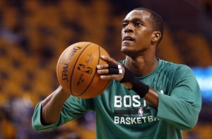 Rajon Rondo diz que quer ficar nos Celtics ao fim da temporada (Foto: USA Today Sports)