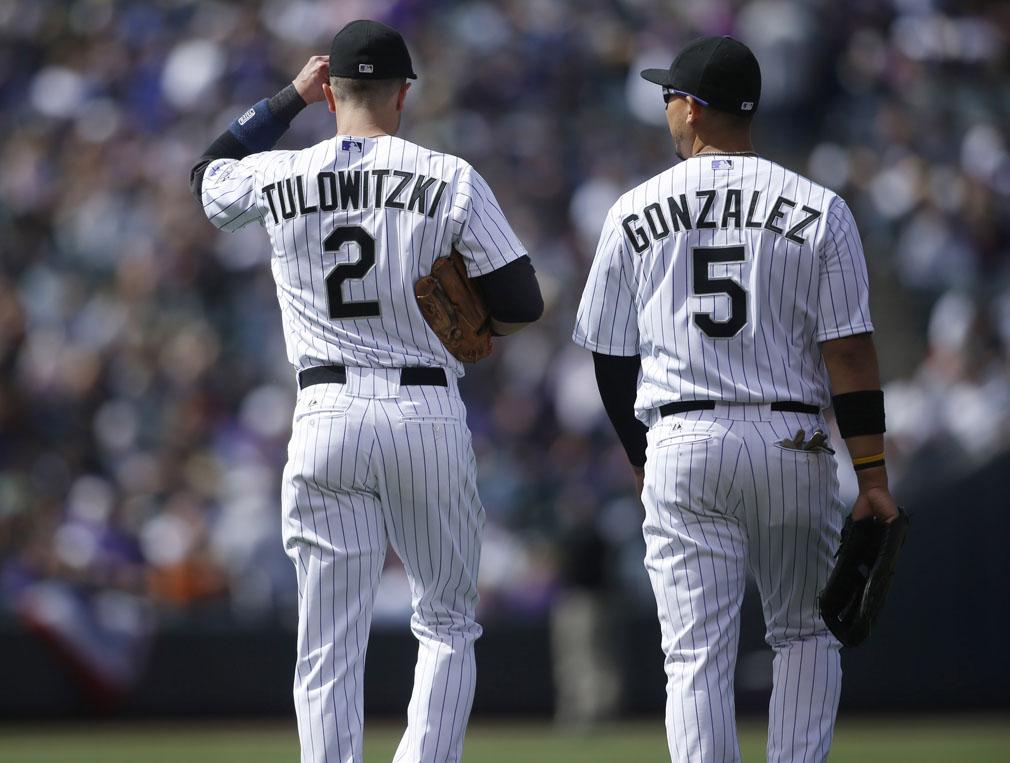 Troy Tulowitzki e Carlos Gonzalez sofreram com lesões em 2014 (Foto: USA Today Sports)