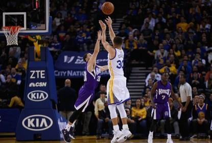 Com triplo-duplo de Curry, Warriors vencem Kings em jogo de placar alto - The Playoffs