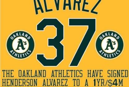 Henderson Alvarez fecha com Oakland Athletics - The Playoffs