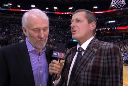 Veja Gregg Popovich pela primeira vez feliz em uma entrevista - The Playoffs