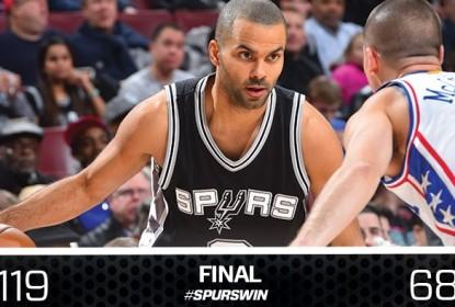 Desfalcado, San Antonio Spurs vence o Philadelphia 76ers por 119 a 68 - The Playoffs