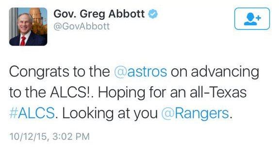 Greg Abbott mlb