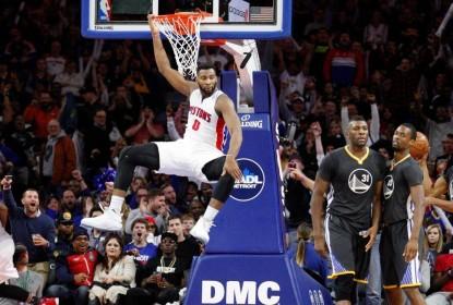 Em noite de festa, Pistons batem os Warriors em Detroit - The Playoffs