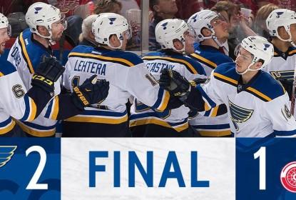 Red Wings desperdiçam chances de gols, e Blues vencem em Detroit - The Playoffs