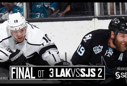 Kings reagem no fim e vencem Sharks no overtime - The Playoffs