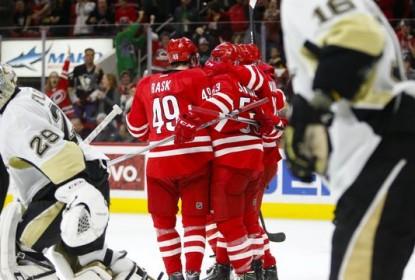 Na prorrogação, Hurricanes derrotam os Penguins por 3 a 2 - The Playoffs
