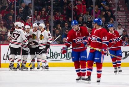 Blackhawks dão show e vencem Canadiens por 2 a 1 - The Playoffs