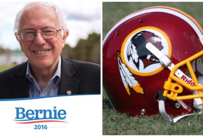 """""""Eles não devem ser chamados de Redskins"""", diz Bernie Sanders, candidato à presidência norte-americana - The Playoffs"""