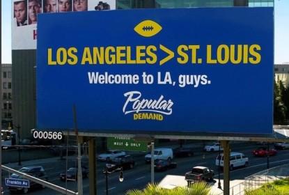 Los Angeles tira sarro do povo de St.Louis após retorno dos Rams - The Playoffs