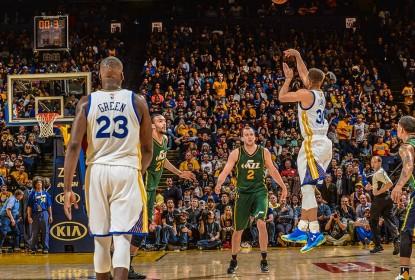Com outra cesta sensacional de Stephen Curry, Warriors vencem Jazz - The Playoffs