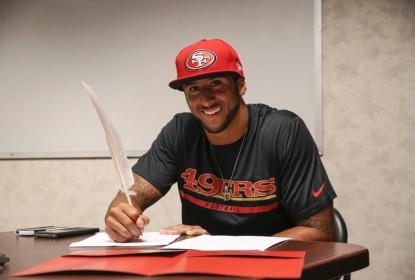 49ers reestruturam contrato de Kaepernick - The Playoffs