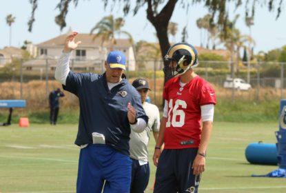 Goff impressiona nos treinamentos dos Rams - The Playoffs