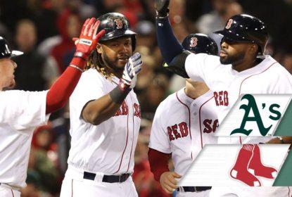 Jackie Bradley Jr. joga muito e Red Sox vencem de virada os A's - The Playoffs