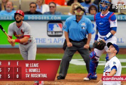Cardinals batem Dodgers com ajuda de Molina - The Playoffs
