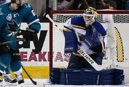 Blues voltam com Brian Elliott no gol em jogo 6 contra os Sharks - The Playoffs