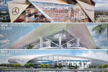 Atlanta, Flórida e Los Angeles vão receber os Super Bowls LIII, LIV e LV - The Playoffs