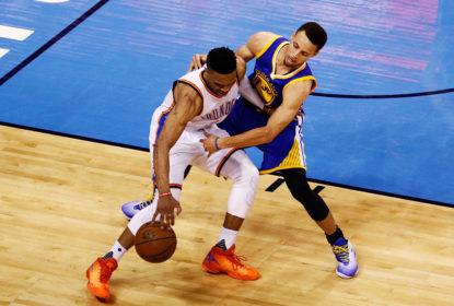 Curry escolhe Harden como favorito para ganhar o título de MVP e é 'ignorado' por Westbrook - The Playoffs