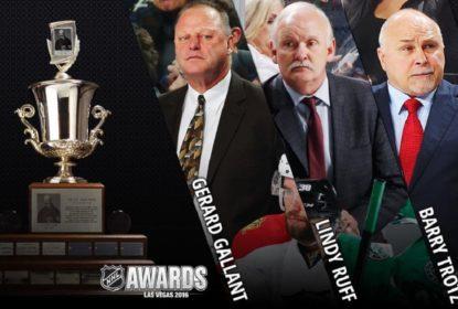 NHL anuncia os três finalistas do Troféu Jack Adams, dado ao melhor treinador da temporada - The Playoffs