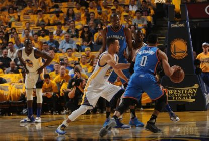 Oklahoma City Thunder vence primeiro jogo da série contra Golden State Warriors - The Playoffs
