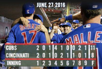 Kris Bryant dá show e Chicago Cubs vence Cincinnati Reds - The Playoffs