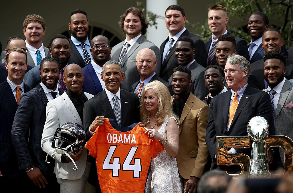 Obama recebe os Broncos na Casa Branca