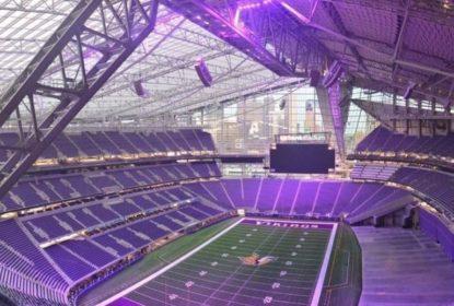 Novo estádio dos Vikings tem o céu roxo - The Playoffs
