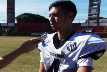 Kicker do Santos Tsunami mostra habilidade de defensor e evita touchdown com tackle - The Playoffs
