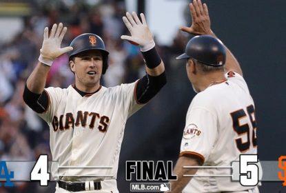 Giants viram na 10ª entrada e vencem Dodgers em San Francisco - The Playoffs