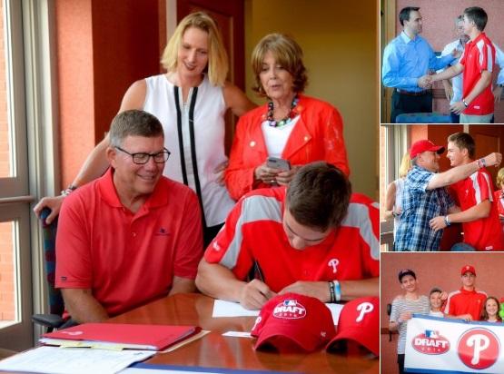 Mickey Moniak assina com o Philadelphia Phillies