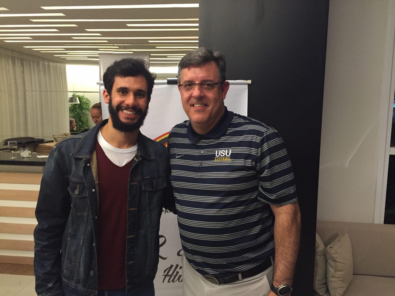 Pedro Moreira e Vandinho em evento da FPB