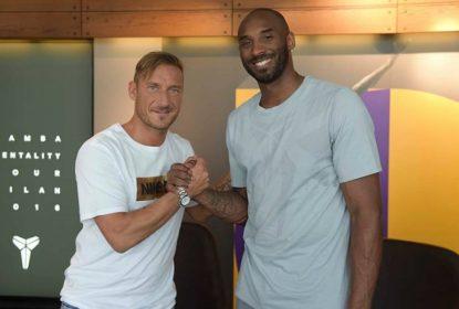 Kobe Bryant e Francesco Totti se encontram em Milão - The Playoffs