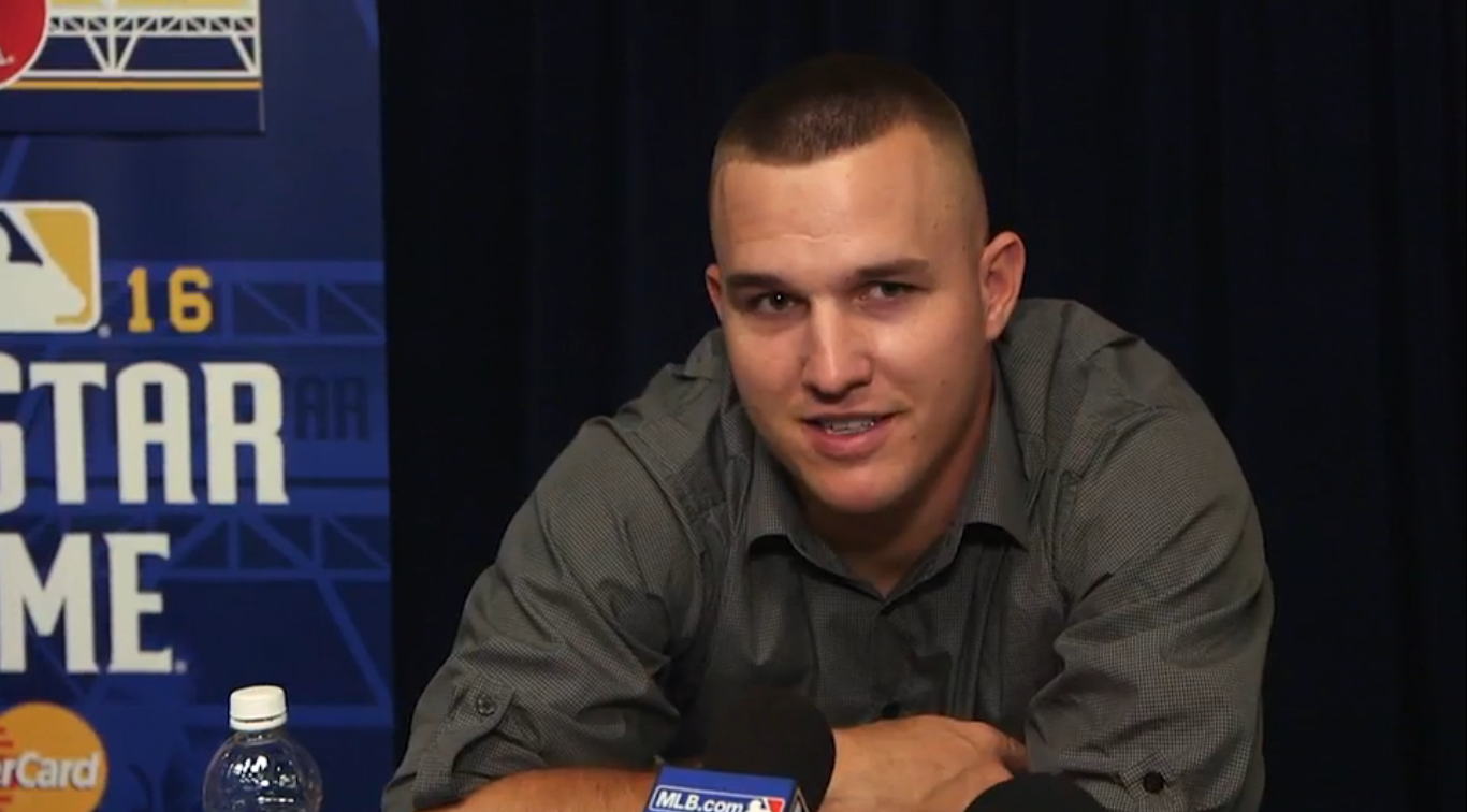 Mike Trout - Coletiva ASG