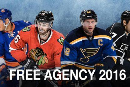 Confira as negociações do primeiro dia da Free Agency da NHL 2016 - The Playoffs