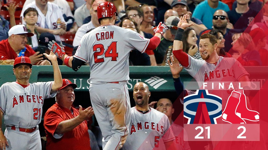 Angels vencem Red Sox por 21 a 2