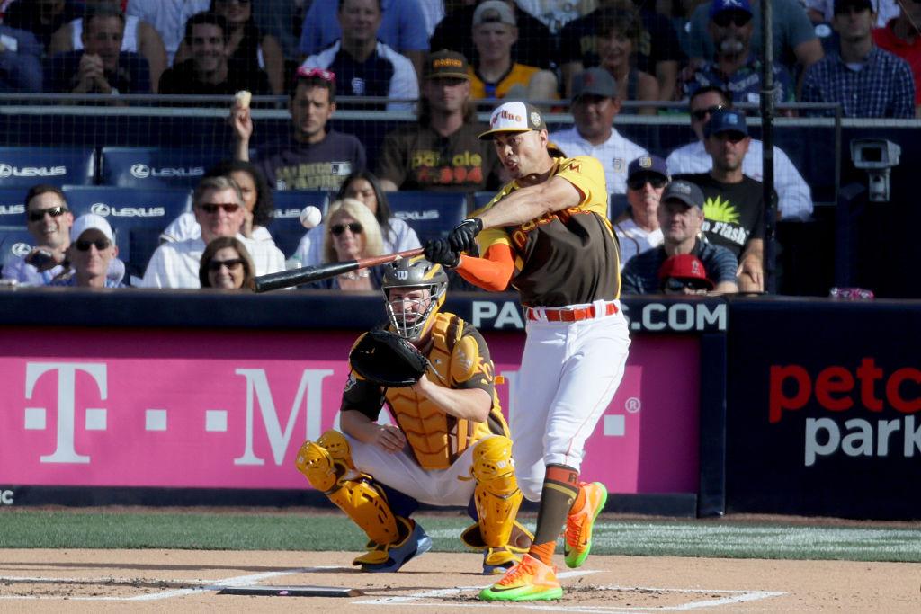 Giancarlo Stanton rebateu 61 home runs no HR Derby 2016