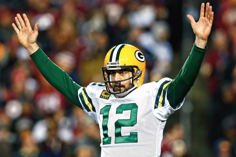 Aaron Rodgers é estrela do Green Bay Packers