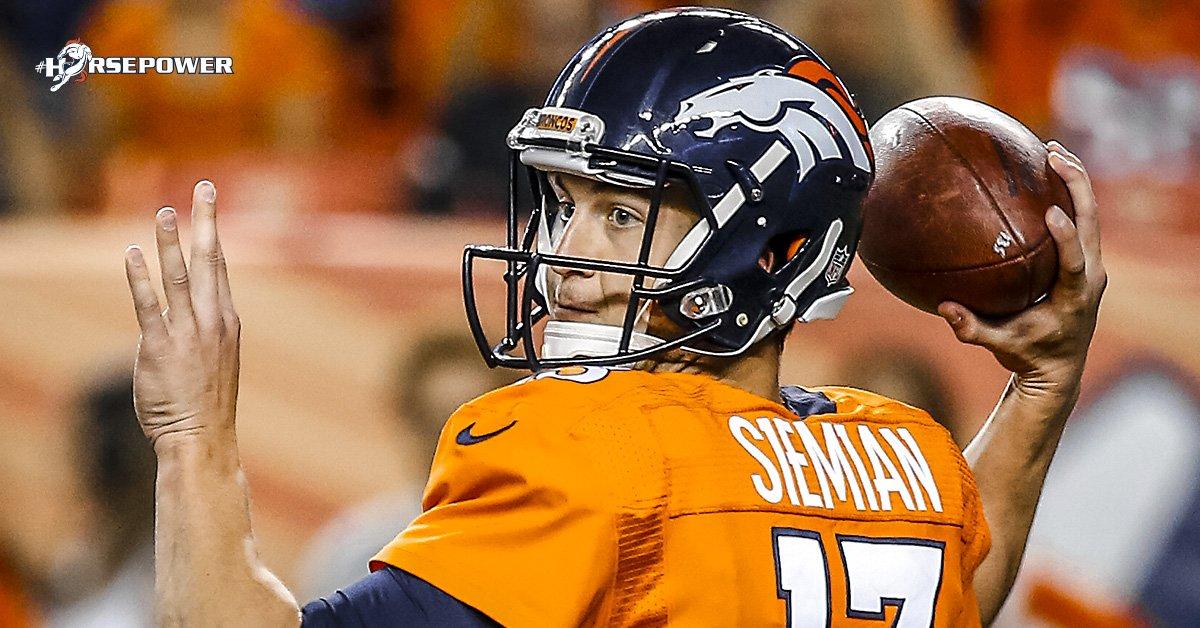 Broncos planejam colocar Trevor Siemian como opção de troca - The Playoffs