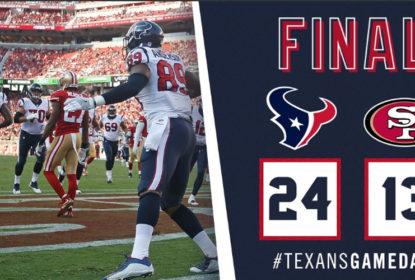 """Texans bancam o """"visitante indesejado"""" e vencem 49ers pela pré-temporada da NFL - The Playoffs"""