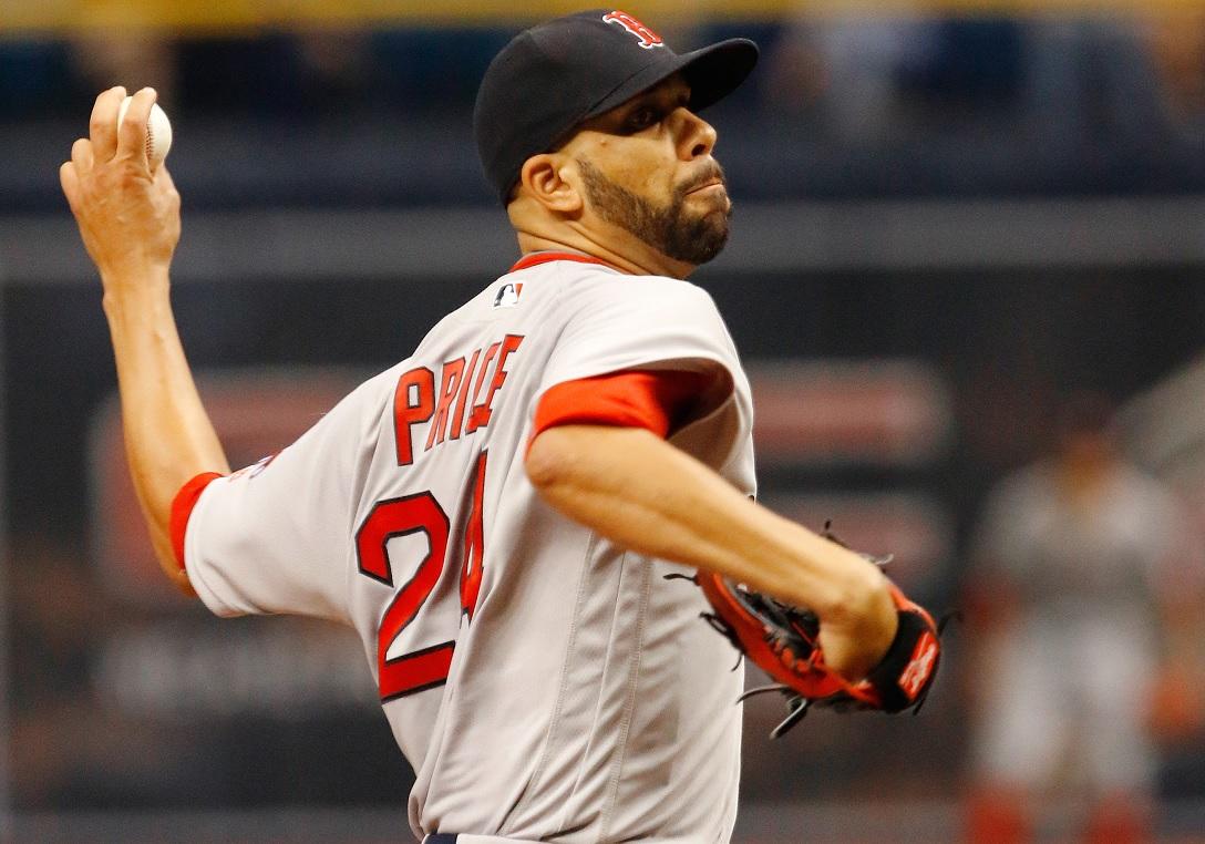 David Price teve boa atuação em vitória do Boston Red Sox sobre Tampa Bay Rays