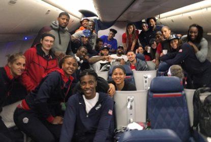 Team USA de basquete desembarca no Rio - The Playoffs